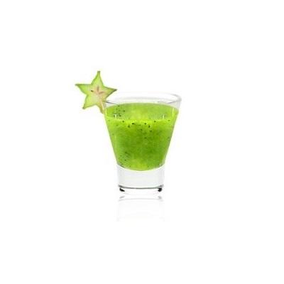 Geo (Гео) - популярный, прохладительный коктейль со вкусом киви, нотками цитрусовых и яблочным послевкусием. Коктейль украшается карамболой.