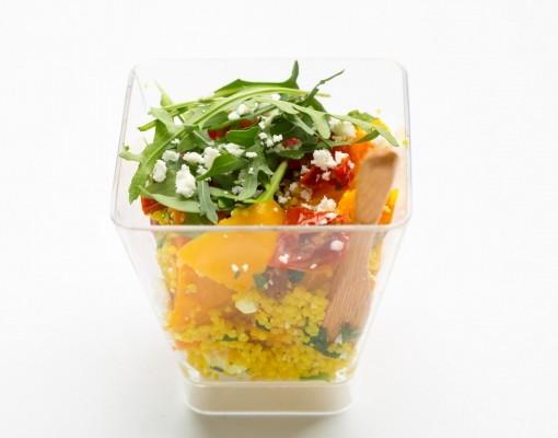 Салат с кус-кусом и козьим сыром