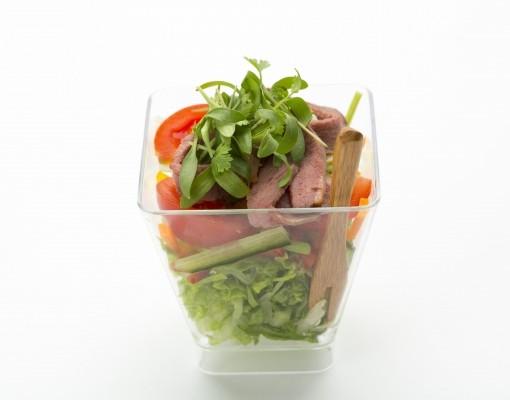 Тайский салат из говядины verrine