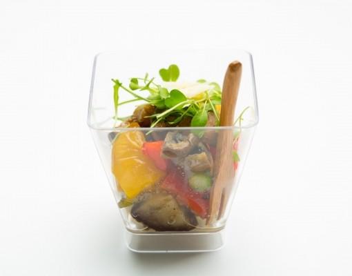 Жареный овощной салат verrine