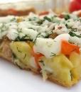 Овощной тарт с моцареллой