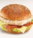 Чизбургер с куриной грудкой и беконом