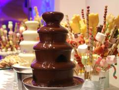 Сладости с шоколадным фонтаном