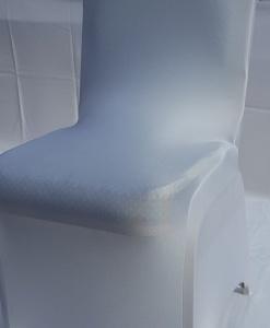 Стрейч чехол на стул банкетный белый