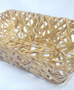 Корзина деревянная плетеная 50/30см