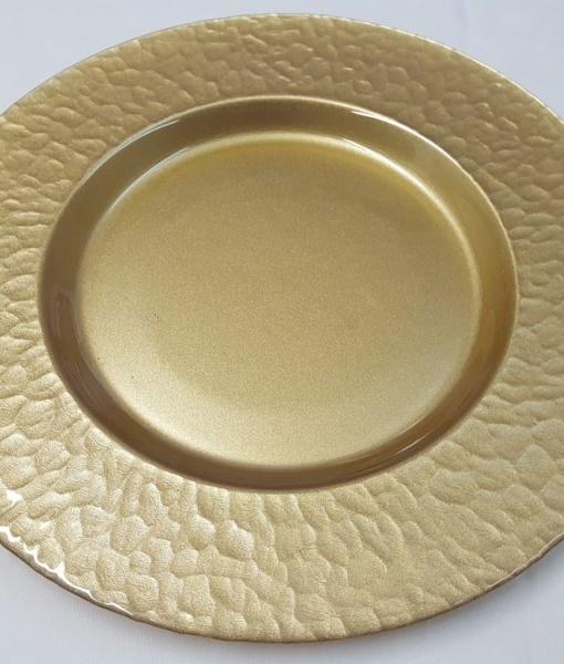 Тарелка 33см постановочная Гетсби Gold