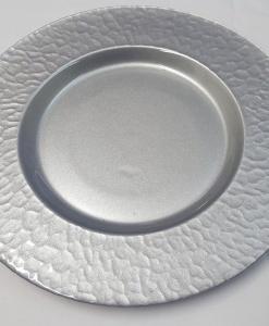 Тарелка 33см постановочная Гетсби Silver