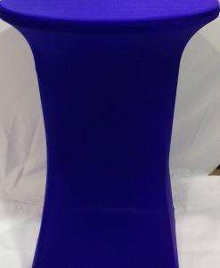 Стрейч чехол на коктейльный стол синий