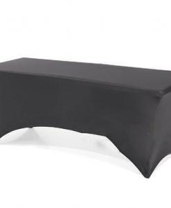 Стрейч чехол на фуршетный стол 183/75 черный