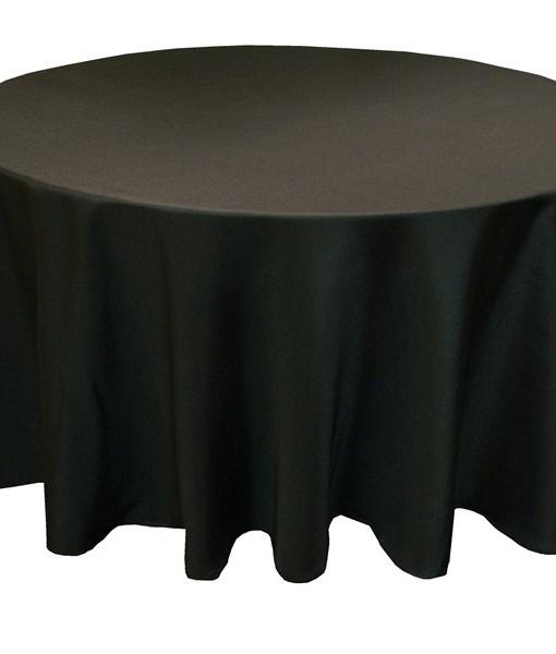 Скатерть круглая для банкетного стола. Размер D-3м Цвета: Черный Материал. ПрофЛайн.