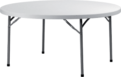Стол банкетный круглый на 10 человек Ø 180 см пластик