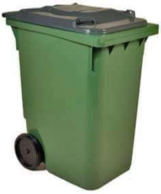 Бак мусорный 120 литров. высота 96см, ширина 48см