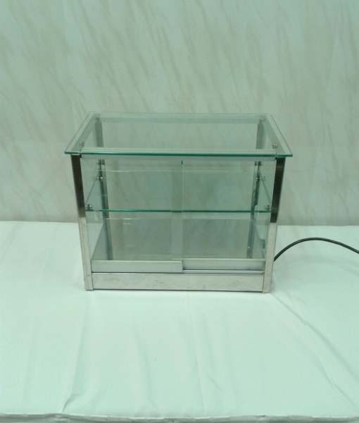 Витрина «стеклянный куб» с подогревом