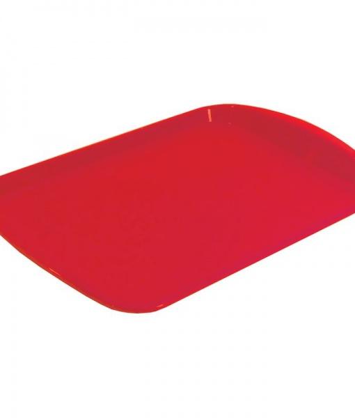 Поднос прямоугольнный красный 33/45см